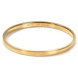 "Kate Spade ""Heart of Gold"" Gold Bangle"